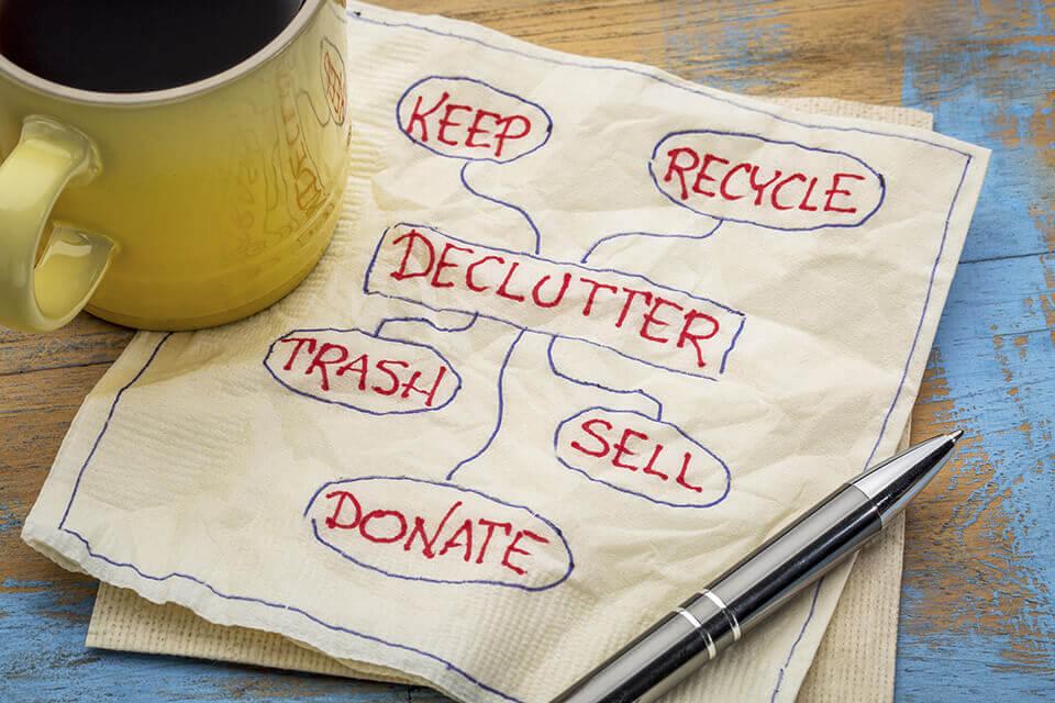 A decluttering scheme
