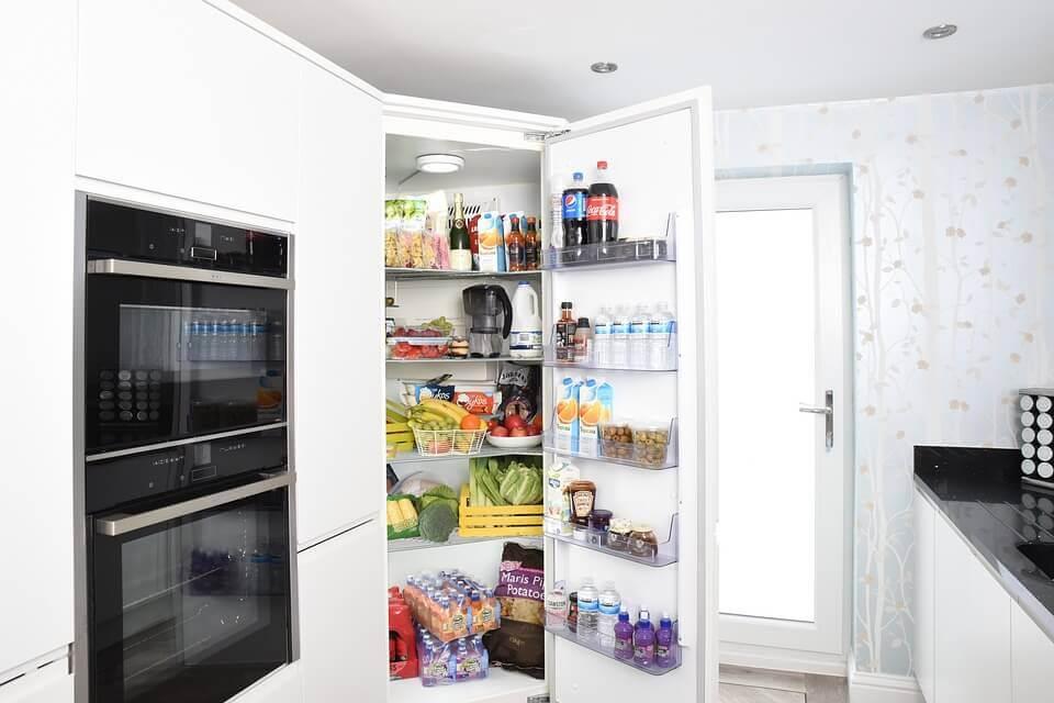 A well-stocked fridge