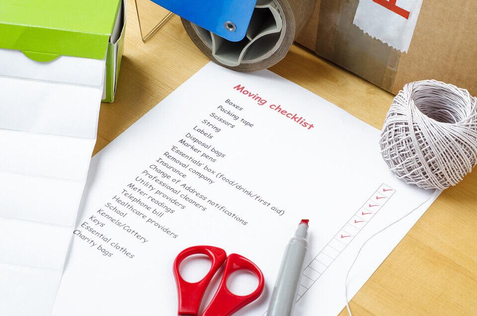 A relocation checklist