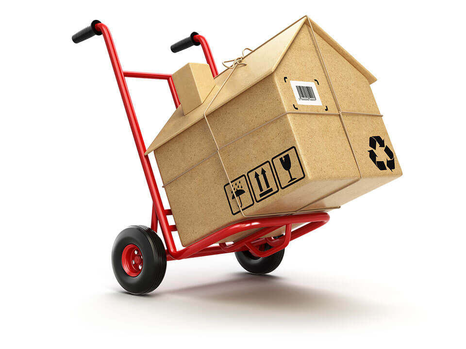 A dolly carrying a package