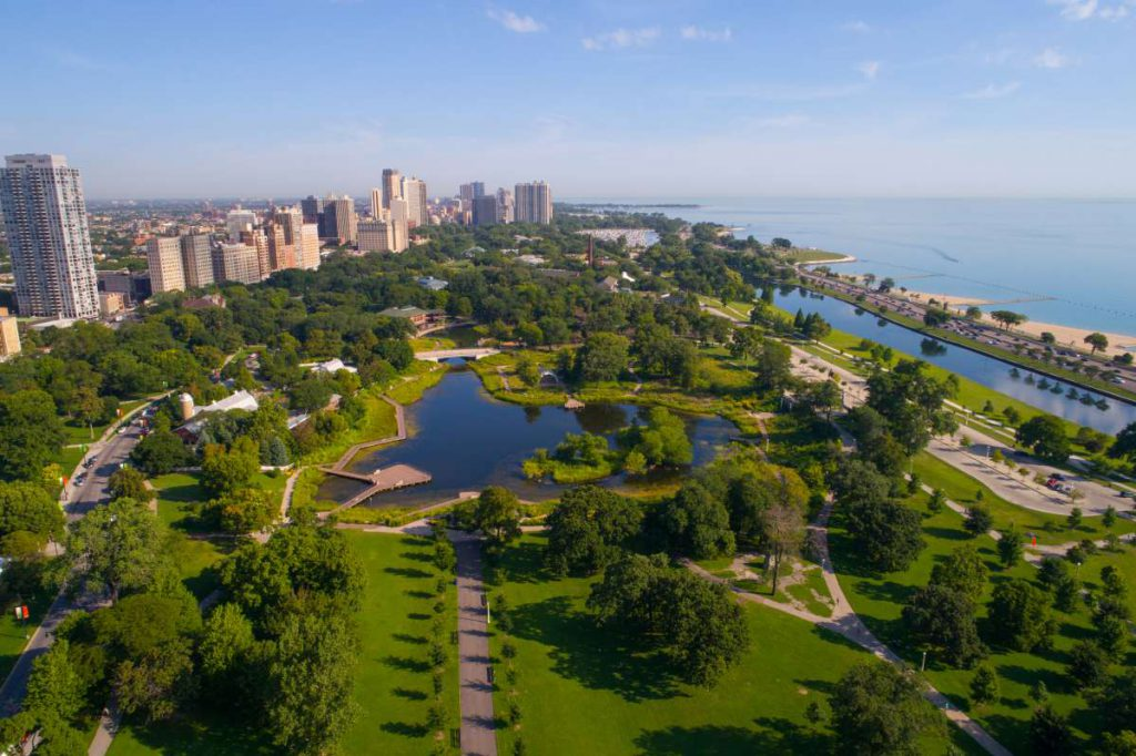 The beautiful parks of Chicago